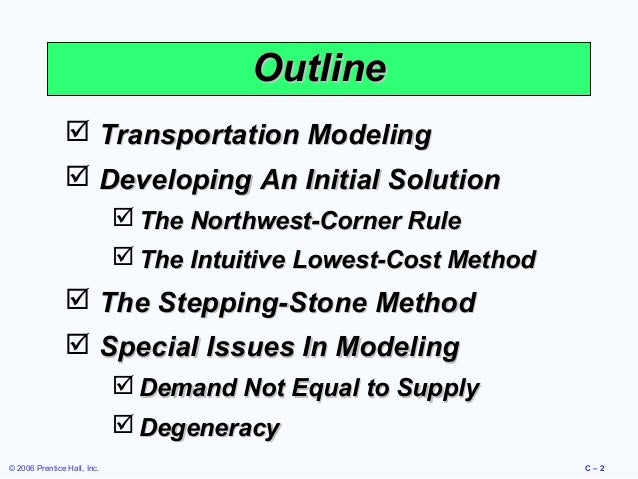 the transportation model If you want this presentation just give me a mail to lokeshpayasi@gmailcom.