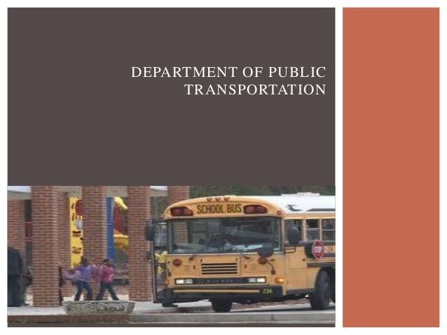 DEPARTMENT OF PUBLIC TRANSPORTATION