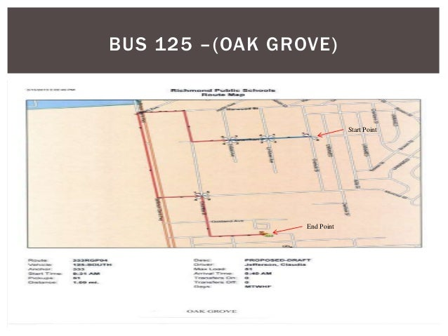 BUS 125 –(OAK GROVE) End Point Start Point