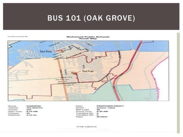 BUS 101 (OAK GROVE) End Point Start Point