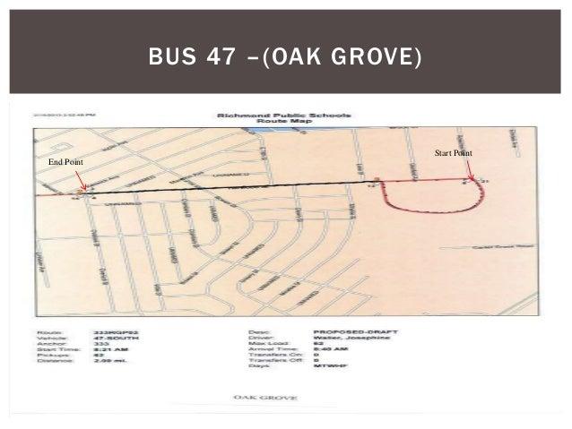 BUS 47 –(OAK GROVE) Start Point End Point