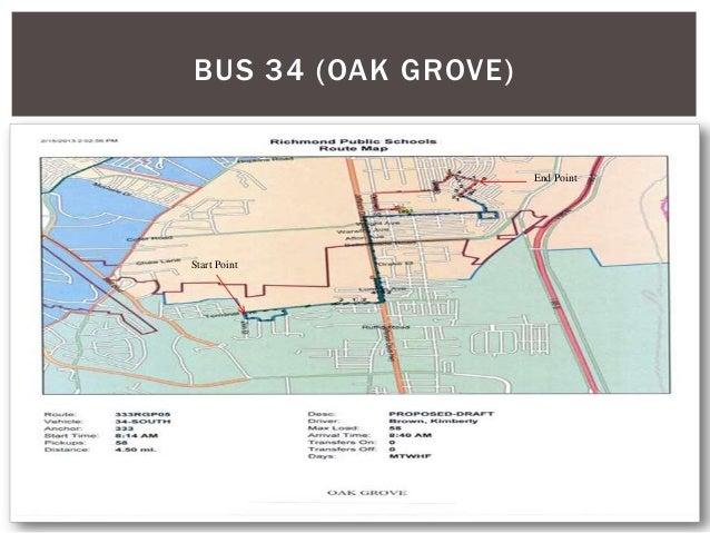BUS 34 (OAK GROVE) Start Point End Point