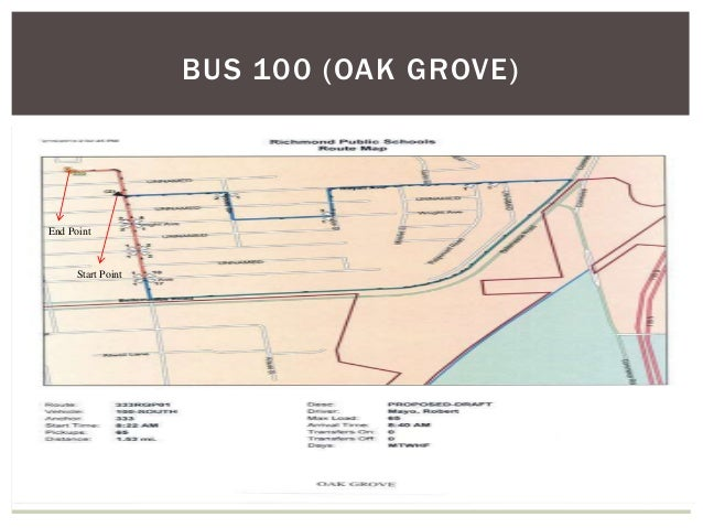 BUS 100 (OAK GROVE) End Point Start Point