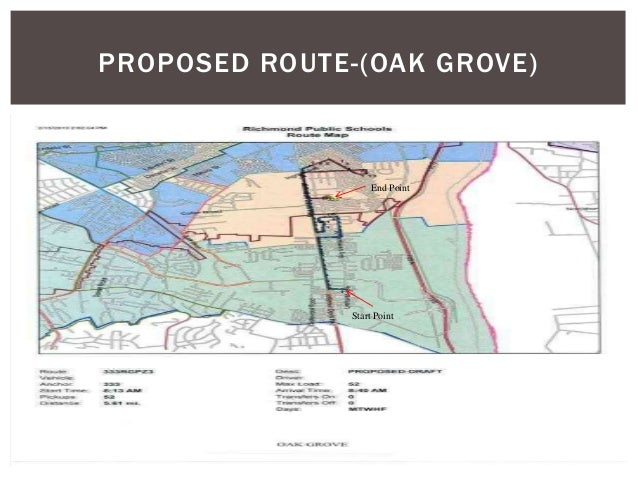 PROPOSED ROUTE-(OAK GROVE) Start Point End Point
