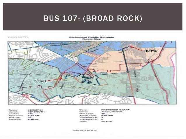 BUS 107- (BROAD ROCK) End Point Start Point