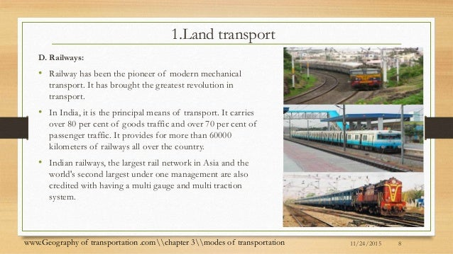 Geography Of Transportation .comchapter 3modes Of Transportation; 8.
