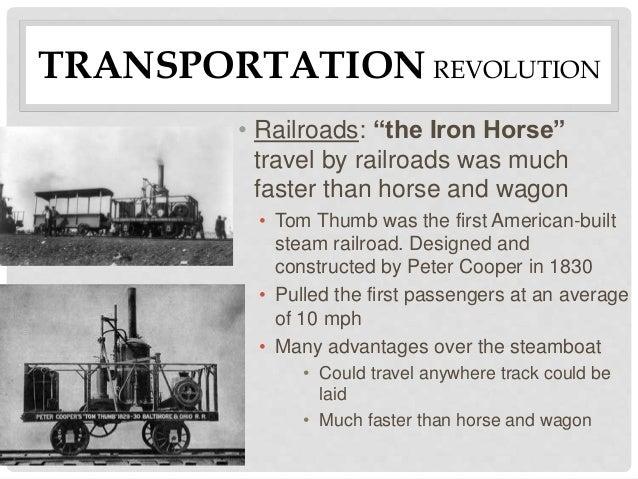 transportation revolution A revolution in transportation sources source for information on a revolution in transportation: american eras dictionary.