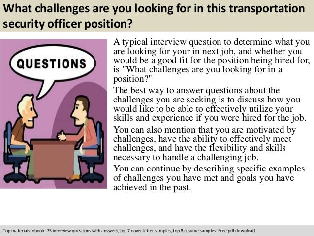 free pdf download 2 what challenges are you looking for in this transportation security officer