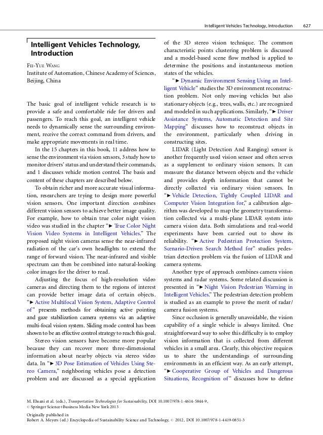 Intelligent Vehicles Technology, Introduction   627  Intelligent Vehicles Technology,                                     ...
