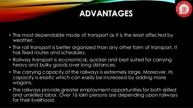 """railways merits and demerits Advantages and disadvantages advantages and disadvantages of railway transportation one thought on """"advantages and disadvantages of road."""