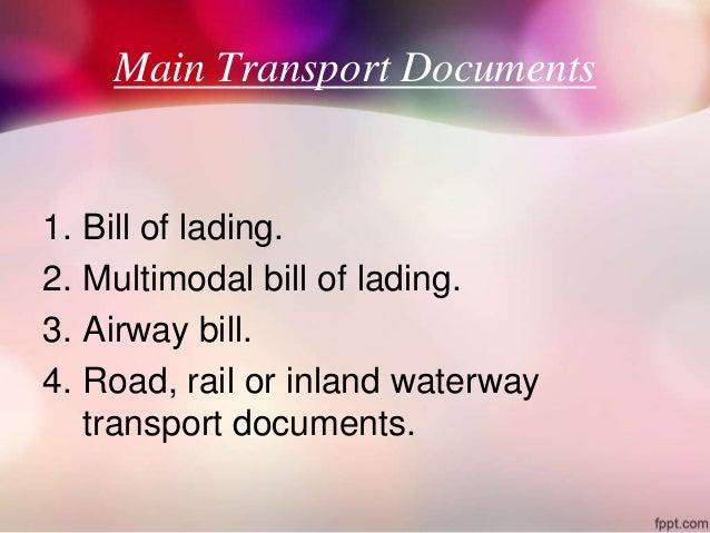 transport douments