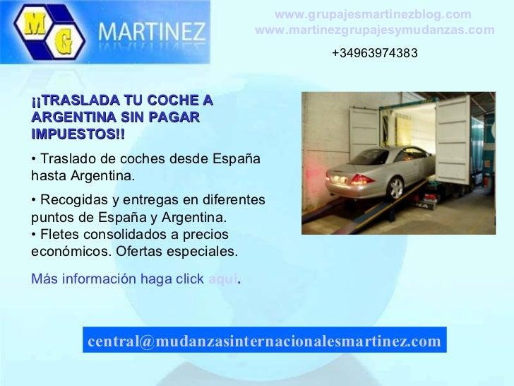Empresa de traslados de autos de espa a hasta argentina for Mudanzas internacionales de espana a argentina precios