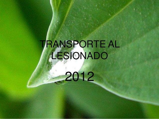 TRANSPORTE ALLESIONADO2012