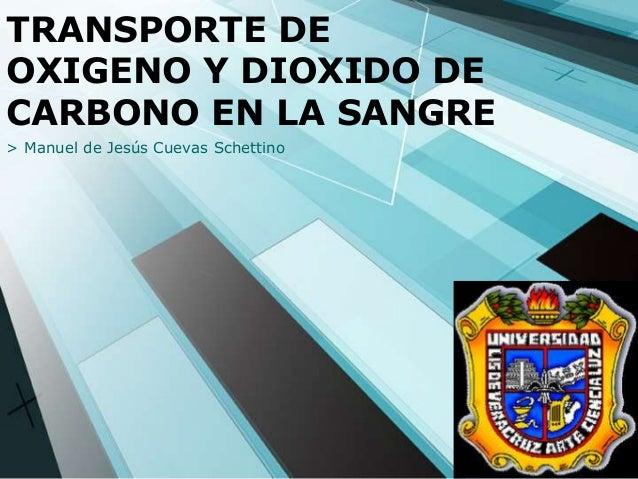 TRANSPORTE DE OXIGENO Y DIOXIDO DE CARBONO EN LA SANGRE > Manuel de Jesús Cuevas Schettino