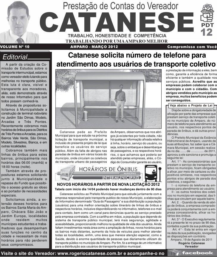 TRABALHANDO POR UMA AMPARO MELHORVOLUME Nº 10                                      AMPARO - MARÇO 2012                    ...