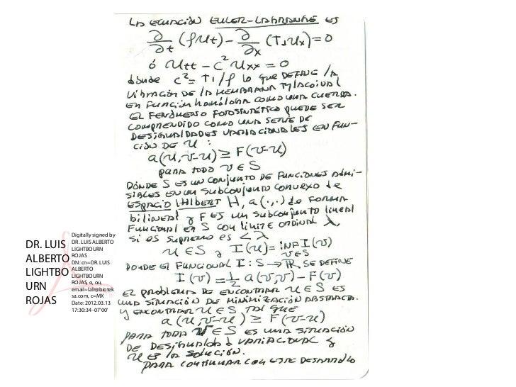 Digitally signed byDR. LUIS   DR. LUIS ALBERTO           LIGHTBOURNALBERTO    ROJAS           DN: cn=DR. LUISLIGHTBO    AL...