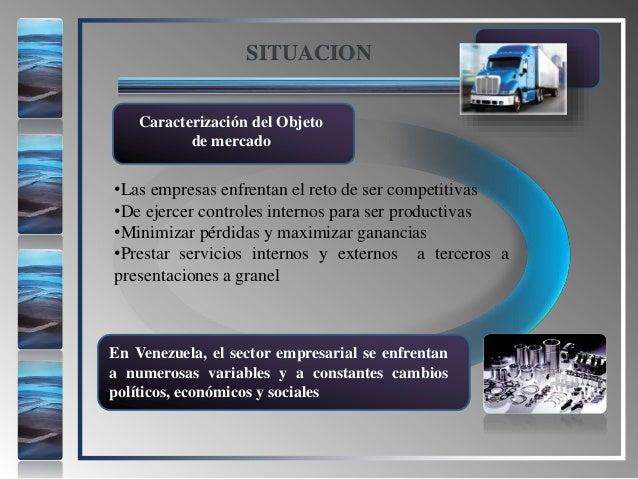 •Las empresas enfrentan el reto de ser competitivas •De ejercer controles internos para ser productivas •Minimizar pérdida...
