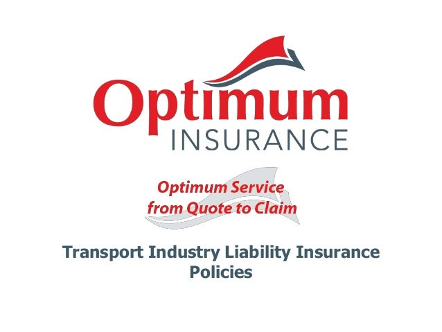 Transport Industry Liability Insurance Policies
