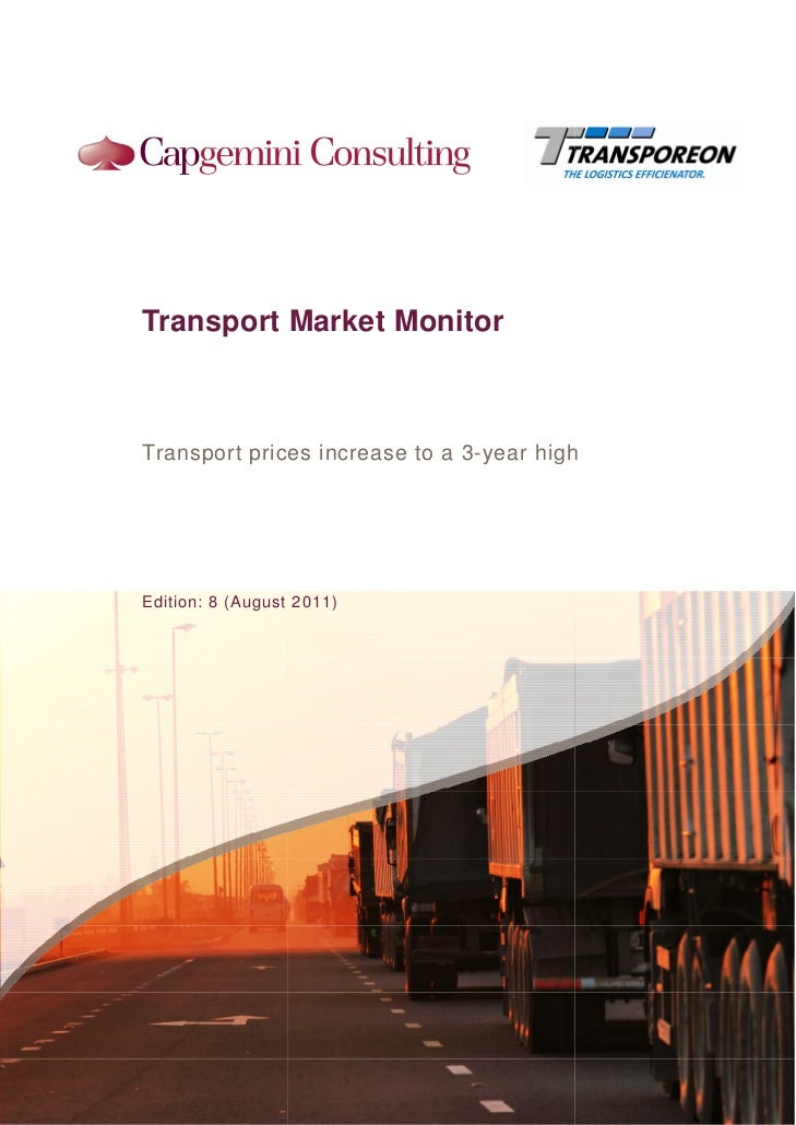 Transport Market MonitorTransport prices increase to a 3-year high                                 yearEdition: 8 (August ...