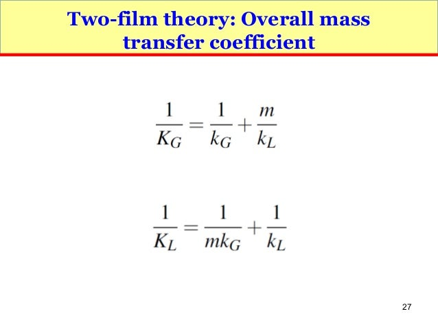 Transport Phenomena Mass Transfer 31 Jul 2016