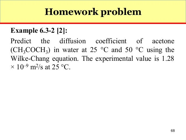 Transport phenomena homework