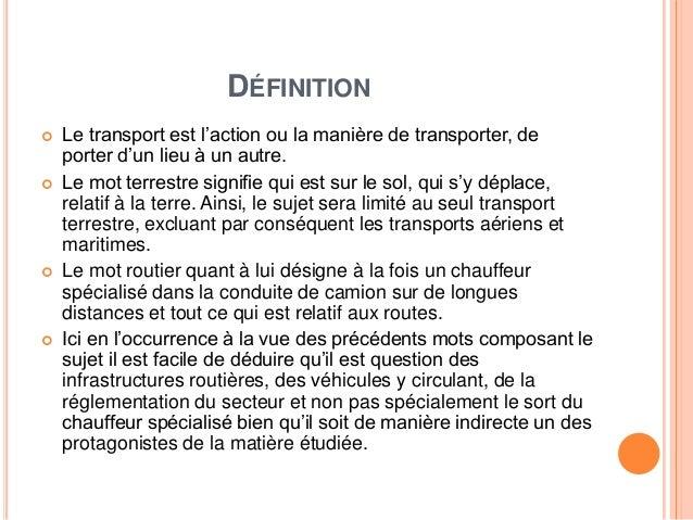 Transport routier au Maroc Slide 2