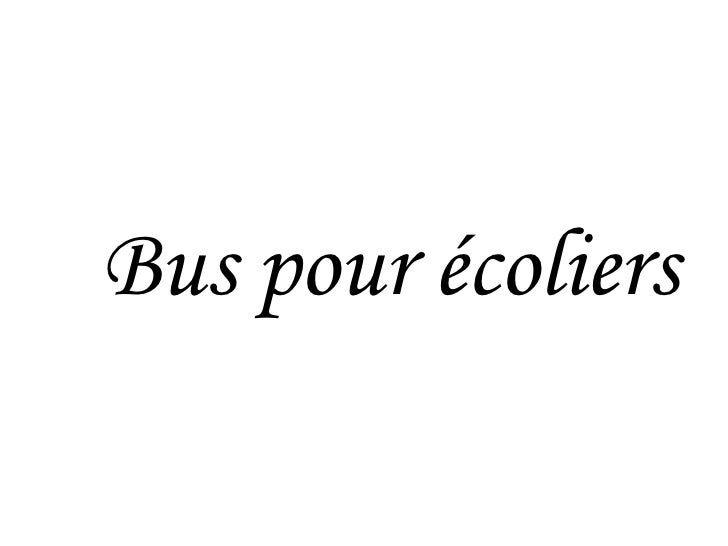 Bus pour écoliers
