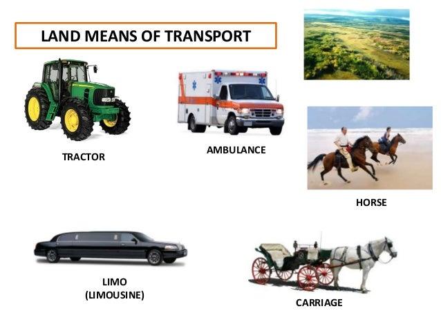 Means Of Transport Land on Kindergarten Bilingual Worksheets