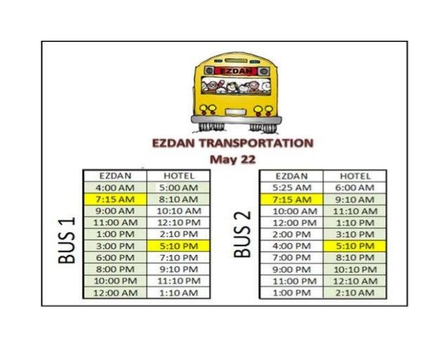 Transport schedule
