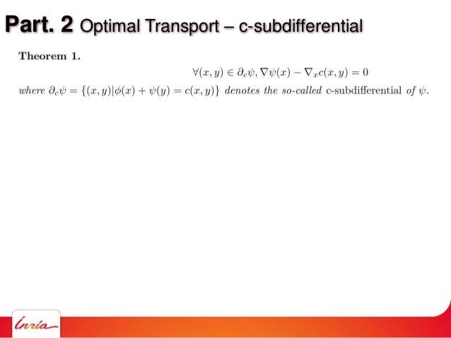 Part. 2 Optimal Transport – c-subdifferential
