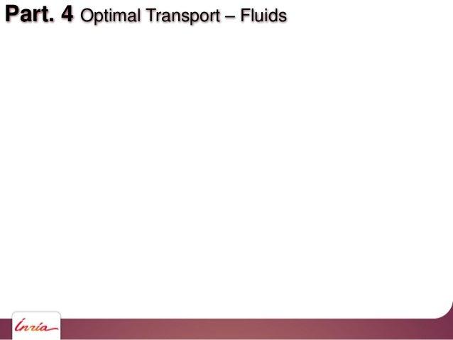 Part. 4 Optimal Transport – Fluids