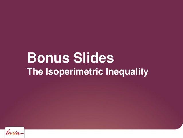 Bonus Slides The Isoperimetric Inequality