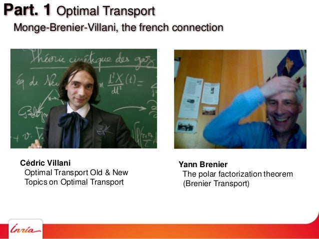 Cédric Villani Optimal Transport Old & New Topics on Optimal Transport Yann Brenier The polar factorization theorem (Breni...