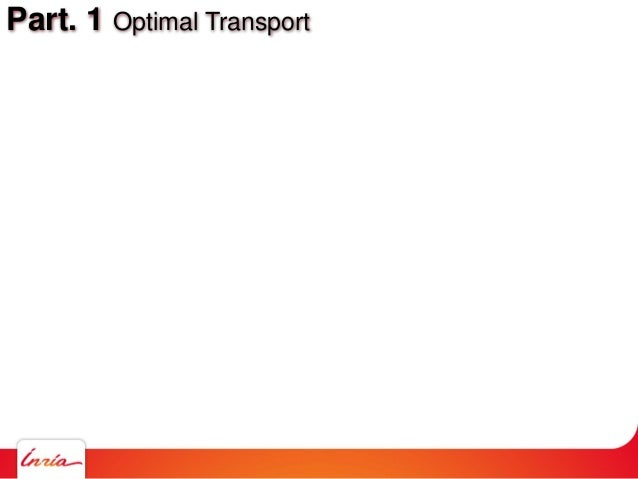 Part. 1 Optimal Transport
