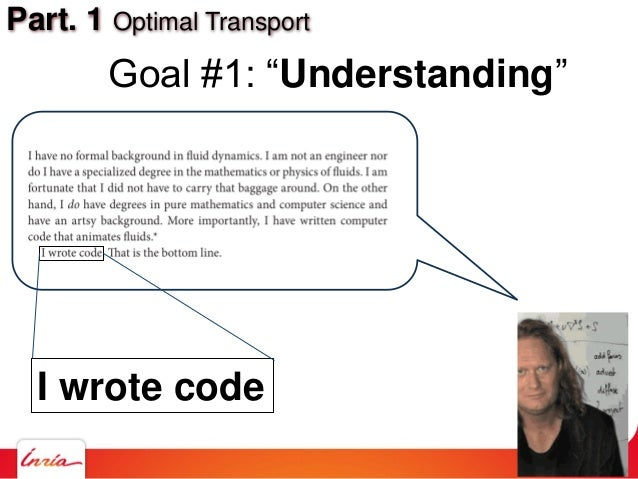 """Part. 1 Optimal Transport Goal #1: """"Understanding"""" I wrote code"""