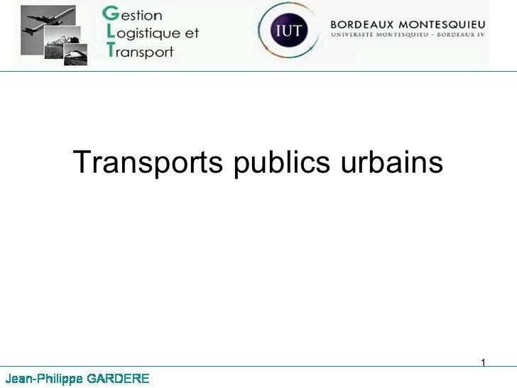 Transports publics urbains