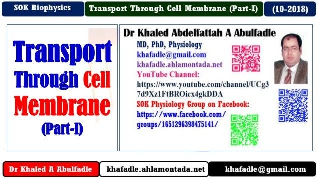 Transport Through Cell Membrane (Part-I)