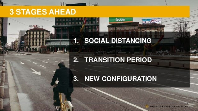 3 STAGES AHEAD 1. SOCIAL DISTANCING 2. TRANSITION PERIOD 3. NEW CONFIGURATION