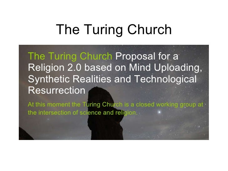 strong church-turing thesis Colin, i recently read the following excerpt from the singularity is near on page 454: the basis of the strong (church-turing thesis) is that problems that are not solvable on a turing machine cannot be solved by human thought, either.