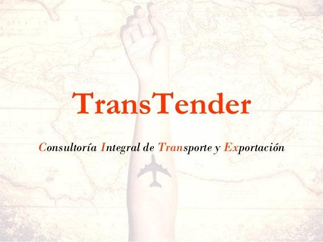 TransTender Consultoría Integral de Transporte y Exportación