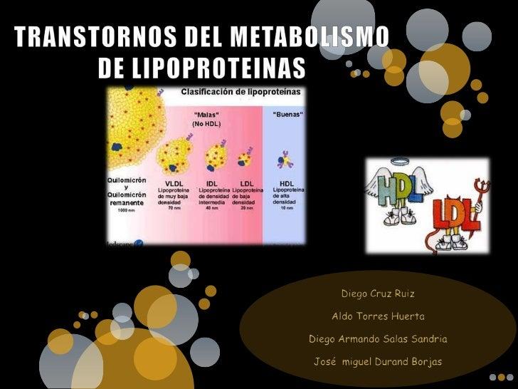 Transtornos del metabolismo de lipoproteinas