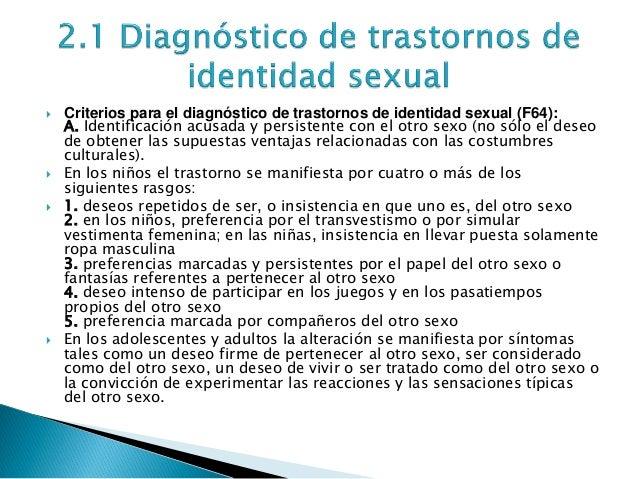 Trastorno psicosexual concepto