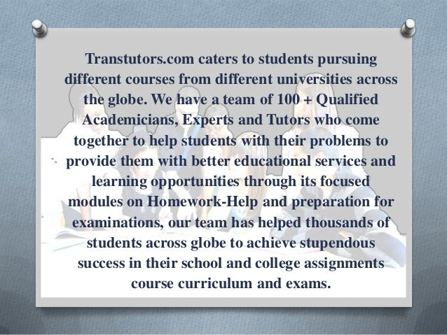 Www transtutors com homework help