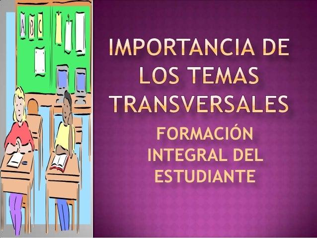 FORMACIÓN INTEGRAL DEL ESTUDIANTE
