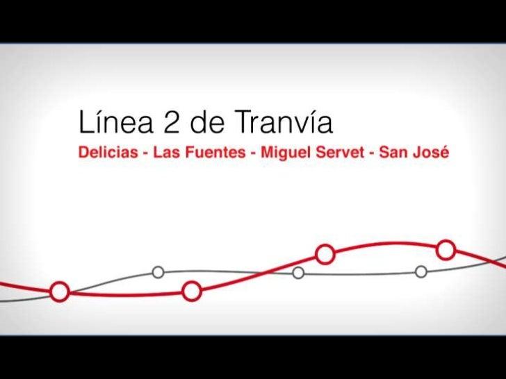 Trazado de la Línea 2 del Tranvía de Zaragoza