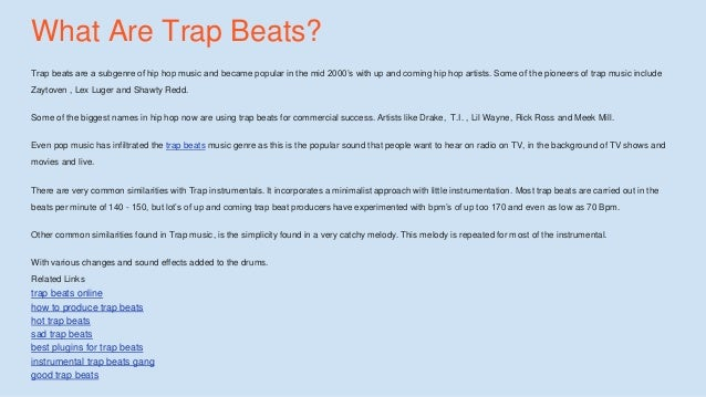 Trap Beats - How To Buy Trap Beats For Mixtapes