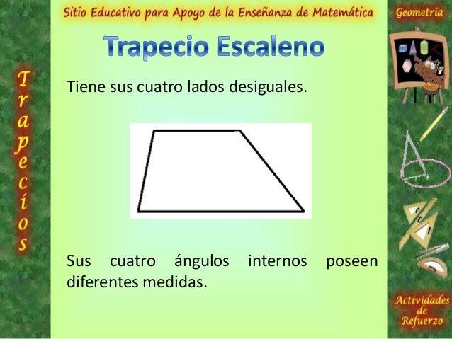 Base MayorBase MenorEl área del trapecio se calcula aplicando lasiguiente fórmula: