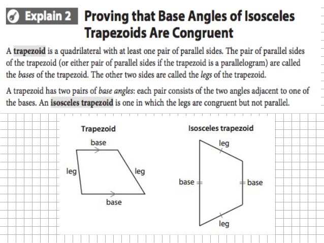 95 Properties And Conditions For Kites And Trapezoids