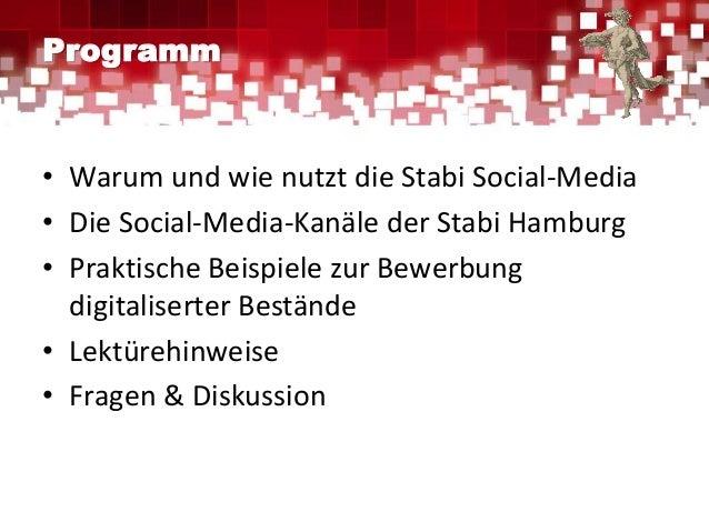 Die digitale Öffentlichkeitsarbeit der Stabi Hamburg Slide 2