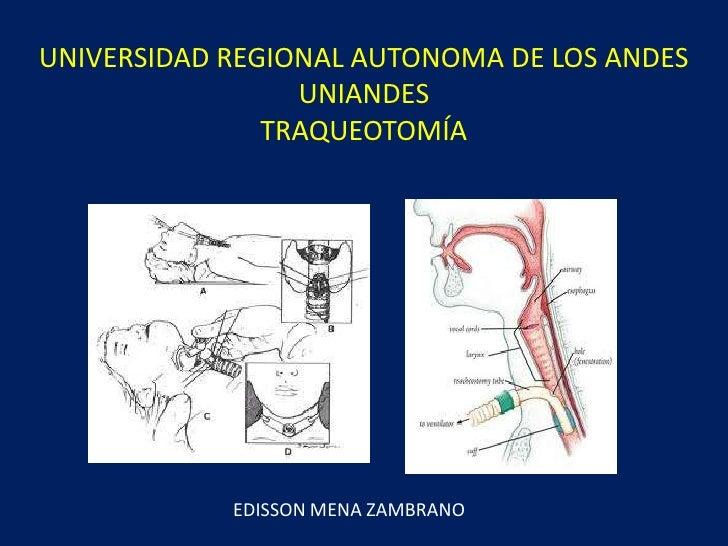 UNIVERSIDAD REGIONAL AUTONOMA DE LOS ANDES                 UNIANDES               TRAQUEOTOMÍA            EDISSON MENA ZAM...